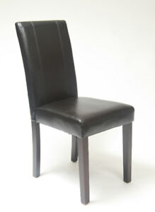 Chaise noire pour le souper table **NOUVEAU**