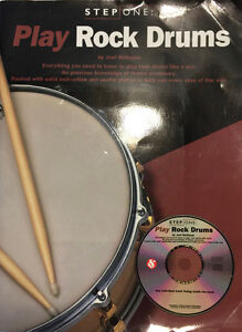 Play Rock Drums instructional book & CD - by Joel Rothman