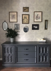 Awesome Vintage HUTCH/Buffet/Console - DELIV INCLUDED