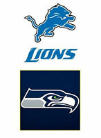 RARE! (6) TICKETS IN A ROW! SEATTLE SEAHAWKS vs. DETROIT LIONS!