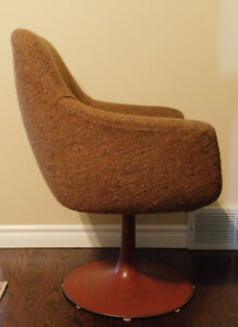 Retro Chair with Round Metal Base from 1970's Kitchener / Waterloo Kitchener Area image 2
