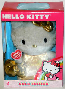 "Hello Kitty 12"" Plush Doll With Purse Gold Edition New"