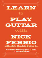 Guitar, Bass or Ukulele Lessons at Hank to Hendrix