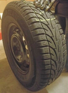 Winter tires and rims 90% tread