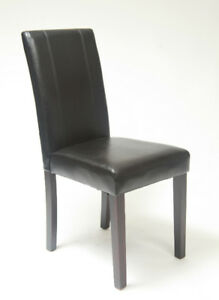 Chair / Chaise noir pour table diner cuir NEUF TAX Incluses