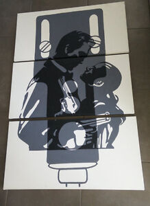 Large 3-piece handpainted MAX PAYNE canvas picture