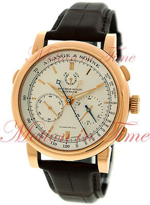 A. Lange & Sohne Double Split Chronograph 43.2mm Rose Gold Silver Dial 404.032