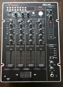 Vestax PMC-280 4 Channel DJ Mixer digital DSP effects sampler