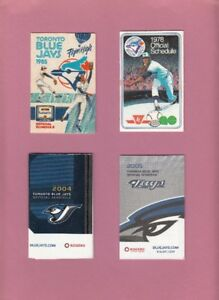 Pocket Schedules / Blue Jays / Maple Leafs / Raptors / Argos