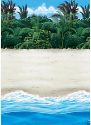 Hawaiische Party Roll Wand Dekoration Tropical Sandy Palm Beach Kostenloser