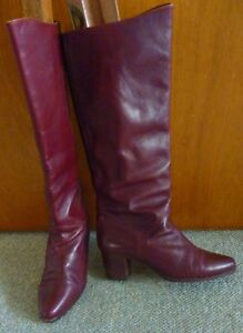 Women's leather boots burgundy by Bally