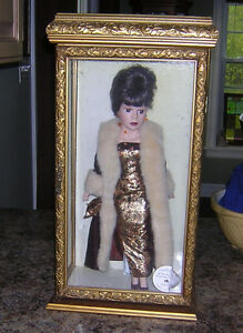 BEAUTIFUL LARGE DOLL IN GLASS CASE