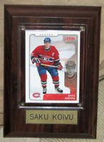 Montreal Canadians Saku Koivu Hockey Card Plaque (Now $5.00)