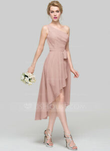 Dusty Rose One Shoulder Bridesmaid Dress - ONLY WORN ONCE