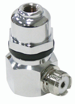 Right Angle Stud - RIGHT ANGLE STAINLESS STEEL STUD ADAPTOR WITH DOME STUD, 3/8