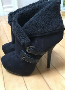 Black heels/ankle boots (size 9)