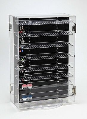 (Body Jewelry Display Case Retail Cabinet Lock +400 Dangle Belly Rings Rotating)