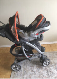 Graco FastAction Fold Click Stroller Travel System$180.00