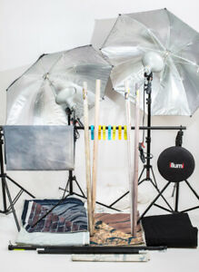 equipement de studio photo avec back drop