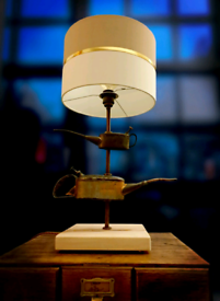 Handmade Upcycled Vintage Oil Can Lamp
