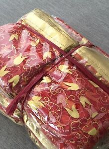 Wedding favors organza bags red and golden qty: 400
