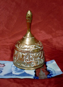 Brass Bell with Catholic engraving