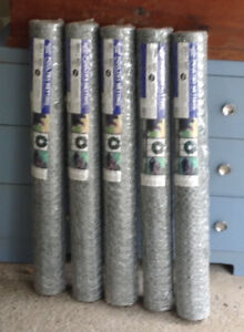 """1"""" X 36"""" X 50' 20 GAUGE  GALVANIZED HEX POULTRY NETTING/ FENCE"""