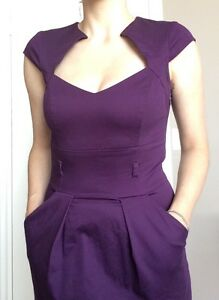 Violet Cocktail Dress (with pockets!)