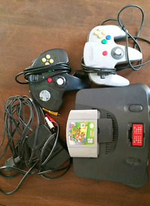 n64 console w game and hookups