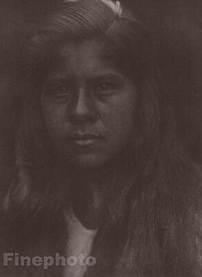 1900/72 Photo Gravure NATIVE AMERICAN INDIAN Sherwood Woman EDWARD CURTIS 11x14