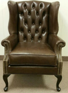 LEATHER WING BACK CHAIR FOR SALE
