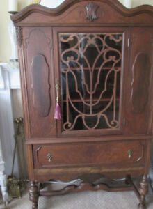 SALE! 3 Stunning ONE OF A KIND- Antique Walnut China Cabinets