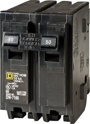Square D Homeline Double Pole 50 Amps Circuit Breaker