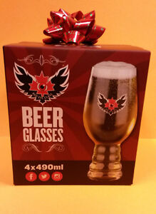 Red Eye Beer Glass Set