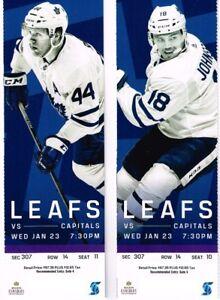 Toronto Maple Leafs vs Washington Capitals, Wed, Jan23/19 7:30pm