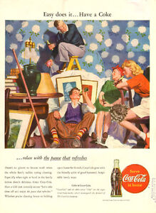 Large (10 ¼ x 13 ½ ) 1946 full-page vintage ad for Coca-Cola