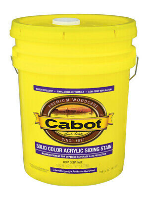 Cabot  Solid  Tintable Deep Base  Water-Based  Acrylic  Stain  5 gal. Deep Base Stain
