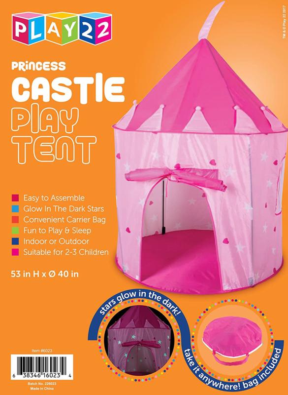 Play22 Play Tent Castle Kids Glow in Dark