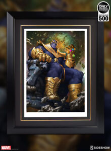 Sideshow Collectibles Marvel Framed Thanos on Throne Art Print