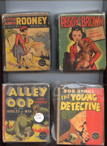 4 BIG LITTLE BOOKS PRE 1945 EXCELLENT CONDITION AND COMPLETE