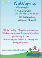 Fatima Sayler, NoWorries Daycare, a registered child care home