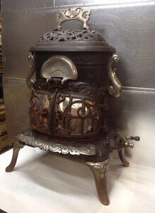 Antique Burrow Stewart & Milne cast iron gas stove EARLY