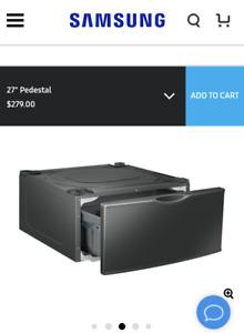 """Samsung 15"""" laundry pedestals"""