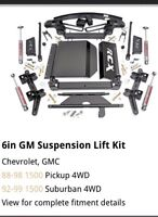 """REDUCED!! ROUGH COUNTRY 6"""" GM SUSPENSION LIFT KIT"""