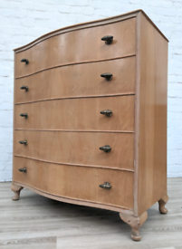 Queen Anne Style Chest Of Drawers (DELIVERY AVAILABLE)