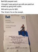 Bell pre-paid minutes