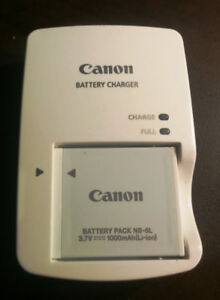 Canon NB-6L Battery and Charger