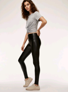 Aritzia daria leather leggings tna black medium