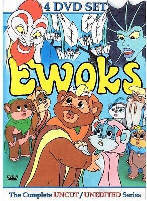The Ewoks Complete Unreleased 1980's Cartoon Series 4 DVD Set. Free USA Shipping