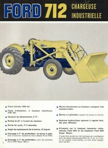 ANNÉES '60, FORD 712, CHARGEUSE INDUSTRIELLE, 4 PAGES